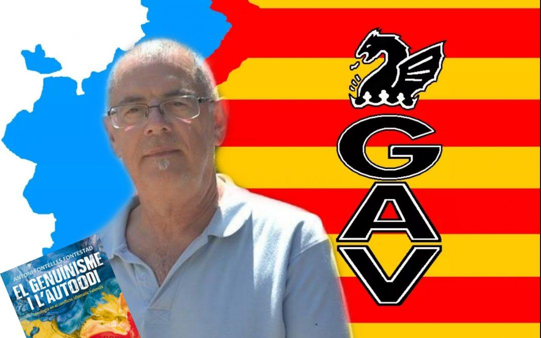 Fontelles presentarà el seu llibre sobre el conflicte idiomàtic valencià en el GAV
