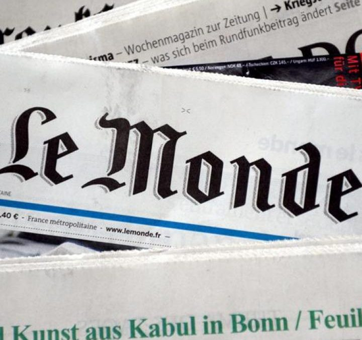 Le Monde sostiene que el idioma valenciano se habla en Lleida, Andorra y parte de Aragón