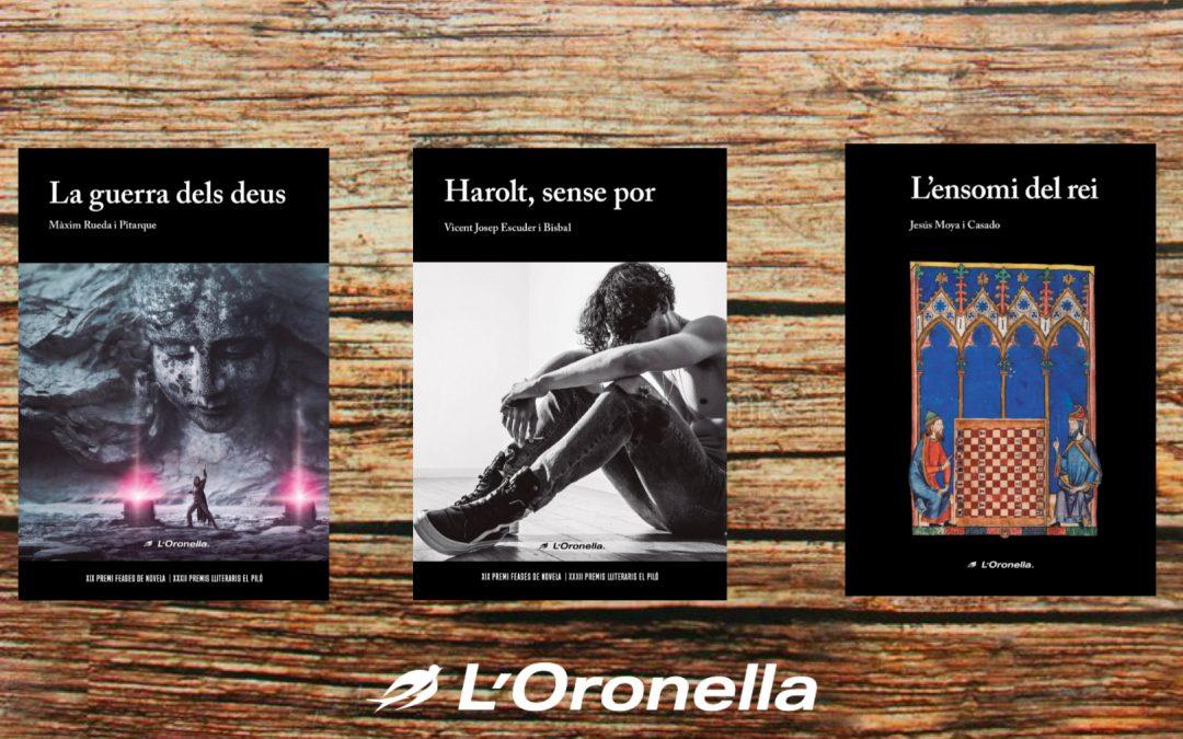 L'Oronella publica tres noves noveles en Llengua Valenciana