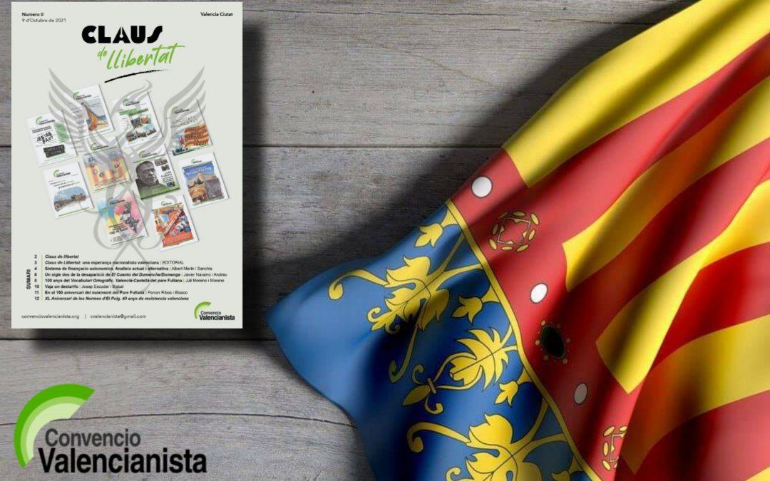 Naix 'Claus de Llibertat' la nova revista de Convenció Valencianista