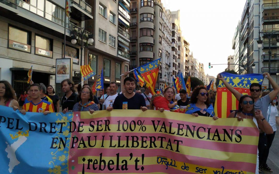 Convoquen una manifestació el 9 d'Octubre per la vesprada en defensa de l'Identitat Valenciana